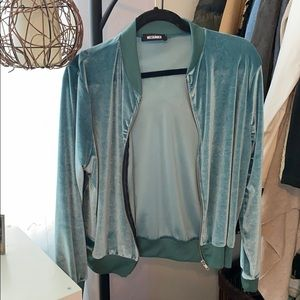 Missguided Teal Bomber Jacket